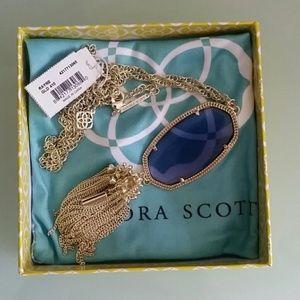 Kendra Scott Iolite Rayne necklace RARE